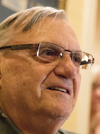 Former Maricopa County Sheriff Joe Arpaio speaks to