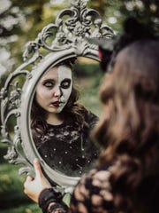 A display of the work of photographer Samantha Brammer,