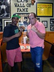 Professional boxers Chris Gray and John Capobianco
