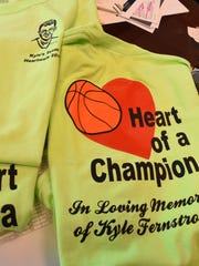 Shelly Church plans to wear this T-shirt for the annual Collier County Heart Walk at Cambier Park this Saturday in honor of her son Kyle Fernstrom who died at age 18 from a heart condition. This is her 21st walk and it's even more special because she reached a million-dollar milestone of fundraising for the cause.