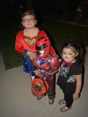 Wonder woman Allyson and Power Ranger Pedro Bernabe