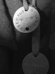 These are the World War I dog tags of Cpl. Donald Stewart.