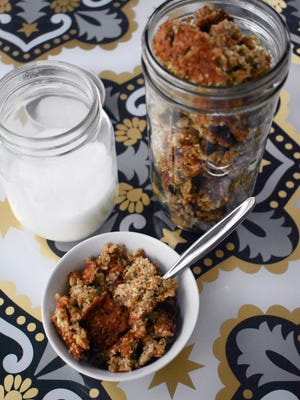 Banana hemp granola will remind you of banana bread.