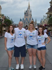 Jeff Scott with his wife, Melissa, and Scott's daughters
