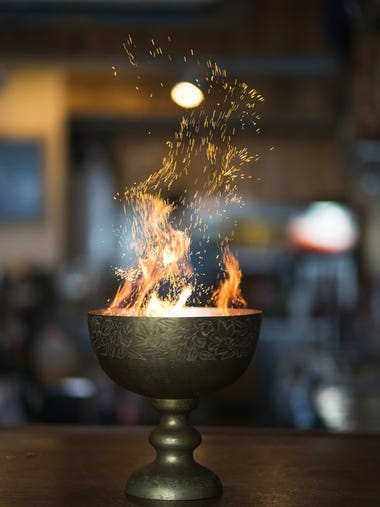 The Fish House's Goblet of Fire, named after the fourth