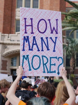 Students protest for gun reform in Tallahassee
