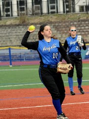 Holy Angels junior shortstop Brianna Gangl is part