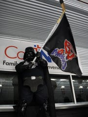 """""""Darth Fader"""" was present at Game 3 for the Shreveport"""