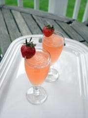 Lady Germain cocktails are served in small champagne