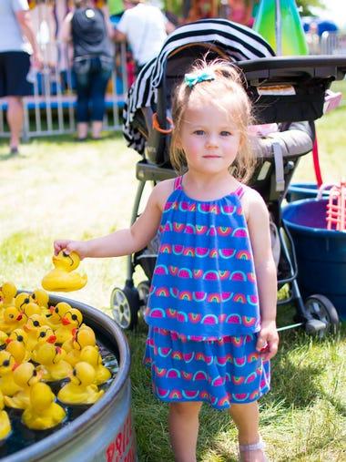 Ella Kohles, 2, of Johnston attends the Carnival at