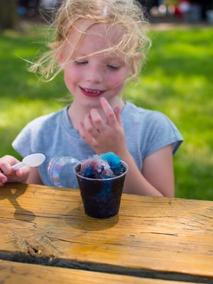 A snow cone is the perfect treat for a warm summer day.