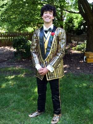 Charlie Hyman of Simpsonville is competing for a $10,000 college scholarship in the Stuck at Prom Duck Tape contest.