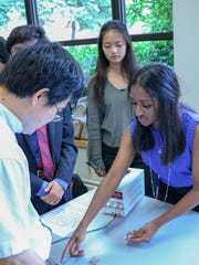 Research project presentations by New Jersey high school