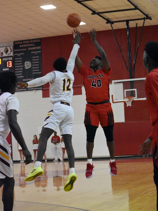 Tioga High School takes on Natchitoches Central High School Friday, Dec. 7, 2018 in the Buckets Invitational. NCHS won 50-39.
