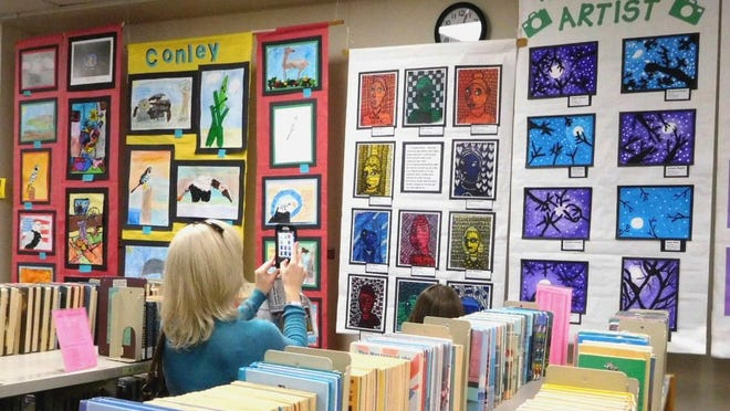 Dozens of elementary schools participate, putting the artwork of hundreds of students on display at the LeRoy Collins Public Library.