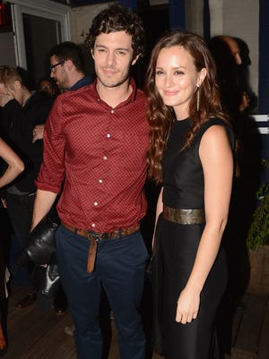 Adam Brody and Leighton Meester on Sept. 14, 2012 in New York City.