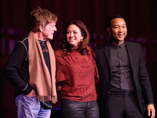Robert Redford, Liz Garbus and John Legend
