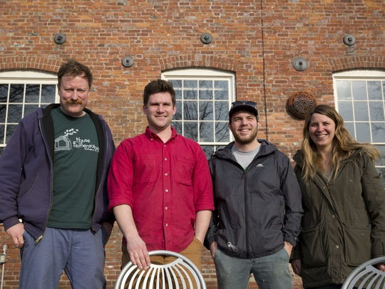 The co-founders of Foam Brewers, (left to right) Todd