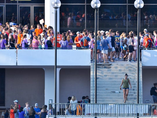 Clemson University new students gather for orientation
