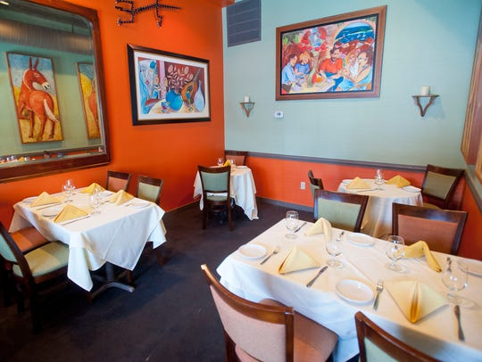 One of the dining room nooks in Lilly's Bistro on Bardstown