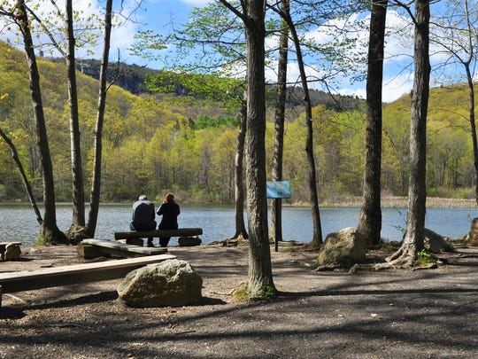 Springtime at Duck Pond on the Mohonk Preserve.