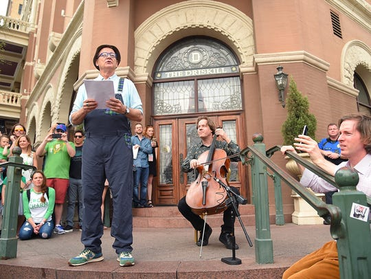 AUSTIN, TX - MARCH 17:  Actor Bill Murray and cellist