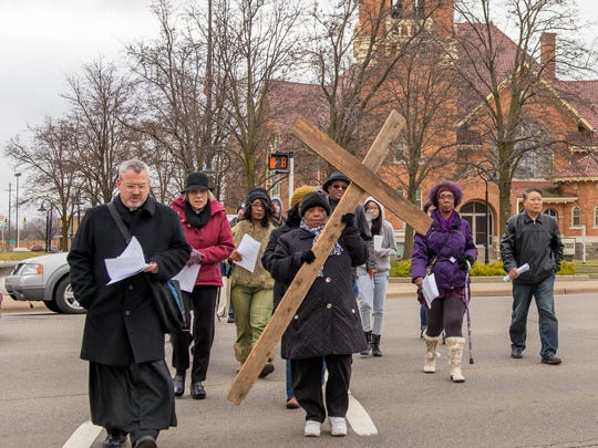 The Way of the Cross is a longtime Good Friday tradition for local churches.