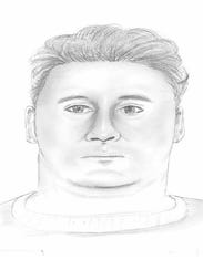 Sketch of a suspect who police say repeatedly stabbed