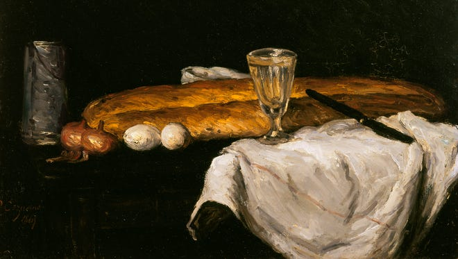 Still life with Bread and Eggs, 1865 (oil on canvas) by Cezanne, Paul (1839-1906); Cincinnati Art Museum, Ohio, USA
