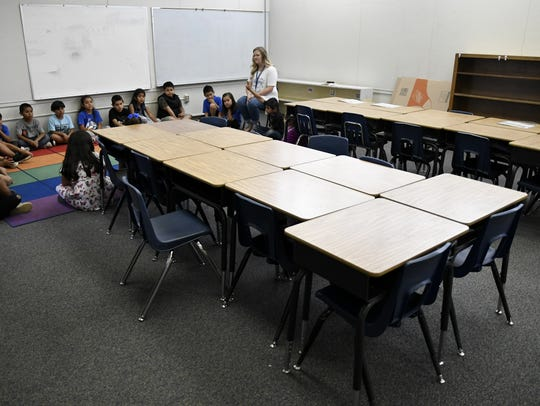 Goshen Elementary first graders reflect on their school