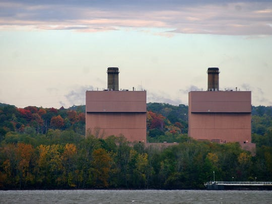The Roseton Generating Station on October 25, 2007, in the Town of Newburgh seen from Chelsea.