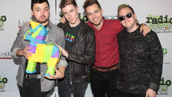 Members of Walk the Moon at a May 10 show in New Jersey.
