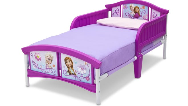"""Anna and Elsa will lull toddlers to sleep on this """"Frozen"""" bed by Delta Children's Products. $79.99 online only at jcpenney.com."""