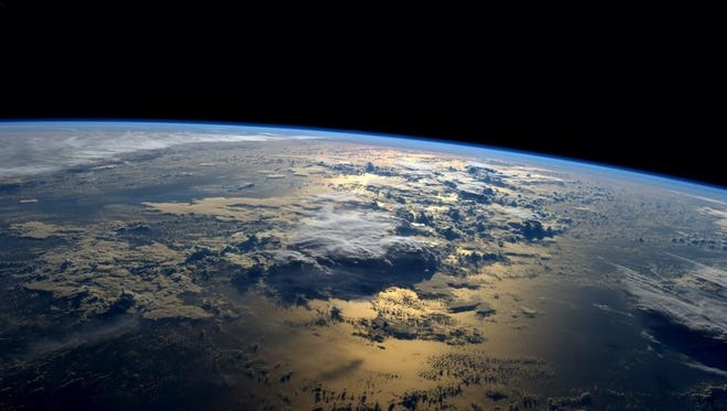 NASA astronaut Reid Wiseman tweeted this photo from the International Space Station on Tuesday morning, Sept. 2, 2014.