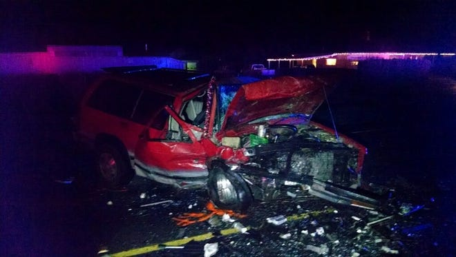 A two vehicle, head on, crash has closed Silverton Road NE near Lardon Road NE around 11 p.m. Friday, Dec. 23.