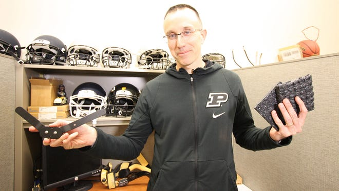 Purdue mechanical engineering professor Eric Nauman has long worked with Purdue Sports Medicine and went right to work on developing a brace.