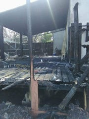 The Cruz family Florida home after a fire broke out in the back patio on March 11.