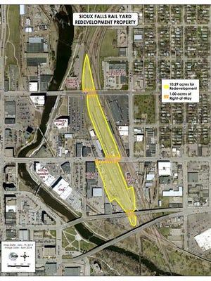 Sioux Falls Rail Yard Map