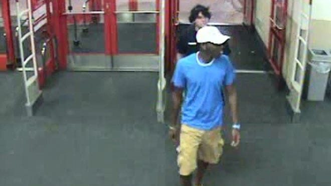 Jackson police are looking for these men in connection with an alleged Target theft.