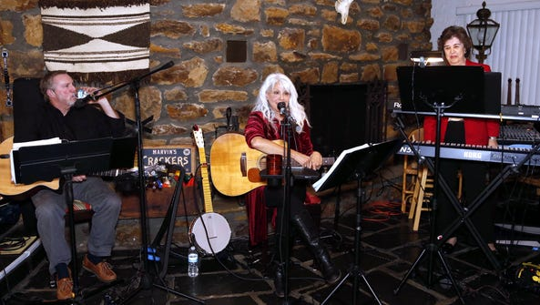 Carolyn Hannan performs with longtime friends Thom