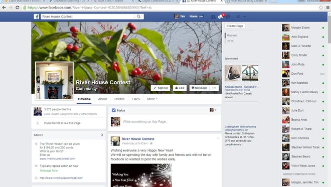 The Facebook page for the River House Contest.