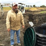 After a full day of digging through a soybean field near Chelsea in Lima Township on Oct. 1, 2015, researchers at the University of Michigan confirmed a farmer's fairly unusual discovery: a large set of bones belonging to a woolly mammoth.