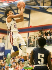 The high school career of Spring Grove's Eli Brooks (left) came to an end on Sunday night. Brooks finished with 2,426 career points, second-most in York County history. Amanda J. Cain photo