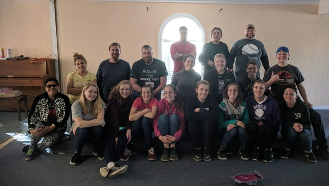 Miami Valley Christian Academy volunteers and students, some athletes, went on a mission trip to help victims of Hurricane Harvey.