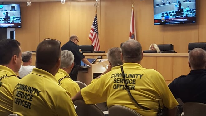 The Code Enforcement Magistrate hearing is a private quasi-judicial process in which MIPD officers, community service officers and property owners testify in cases regarding code violations, such as noise complaints and overgrown weeds.