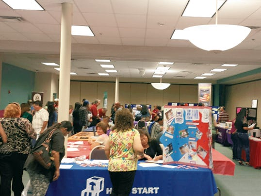Courtesy Photo   The recent Career Expo, hosted by the New Mexico Workforce Connections, Deming and Luna County Economic Development, SLStart and Western New Mexico University, drew 40 employers who were interviewing and hiring on the spot for jobs in the tri-county area.