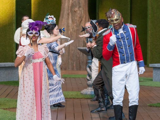 """The cast of  Kentucky Shakespeare's production of  """"Much Ado About Nothing."""""""