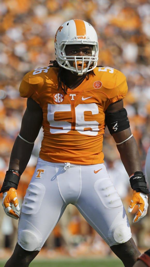 Tennessee linebacker Curt Maggitt