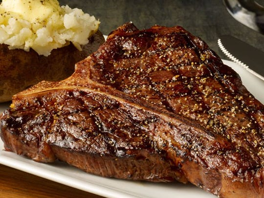 T-Bone and Baked Potato at Montana Mike's Steakhouse