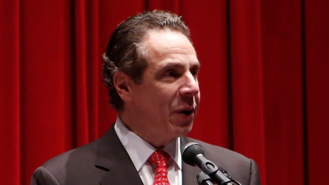 Gov. Andrew Cuomo announced $50 million to help students with student loans at Grace Baptist Church in Mount Vernon on Jan. 18, 2015.